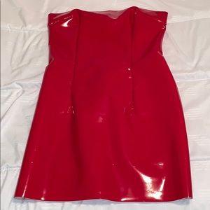 Meshki Patten leather Dress